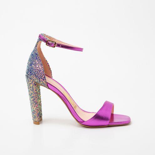 Sandália Invoice Glitter Rosa
