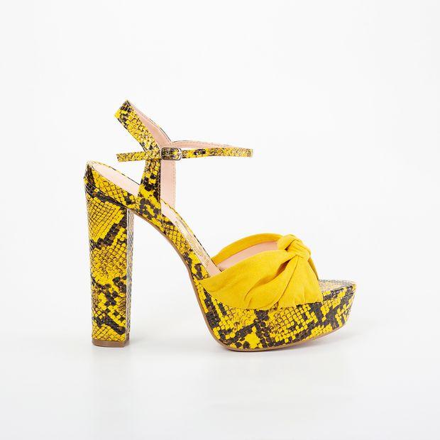 [PRÉ-VENDA] Sandália Meia Pata Invoice Cobra Amarelo