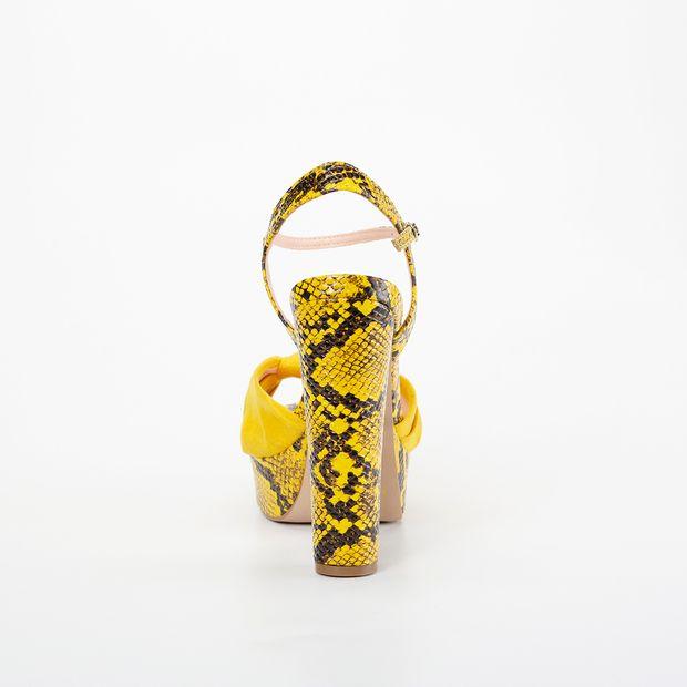 Sandália Meia Pata Invoice Cobra Amarelo