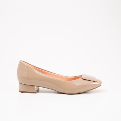 Sapato Invoice Verniz Nude
