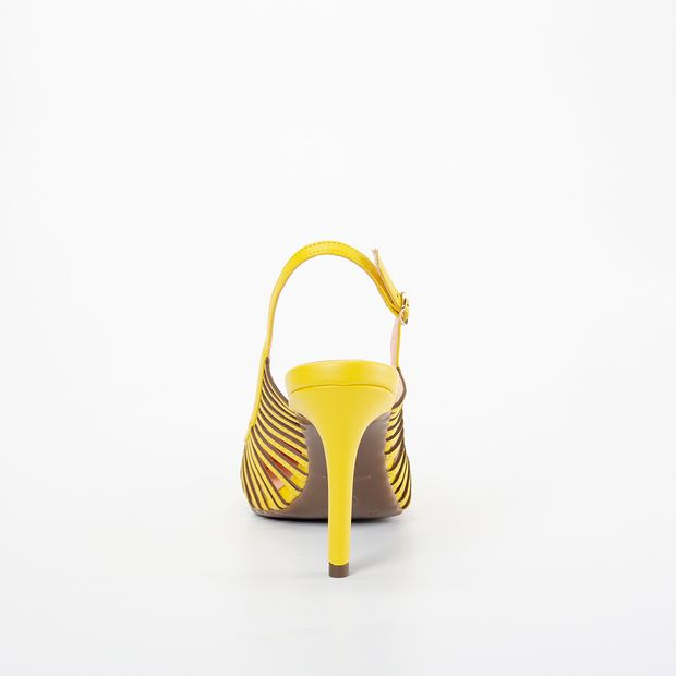 Scarpin Invoice Slingback Amarelo
