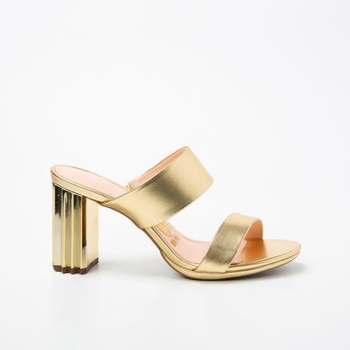 Tamanco Invoice Dourado Metalic