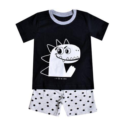 Pijama Manga Curta Dinossauro Fred - Menino