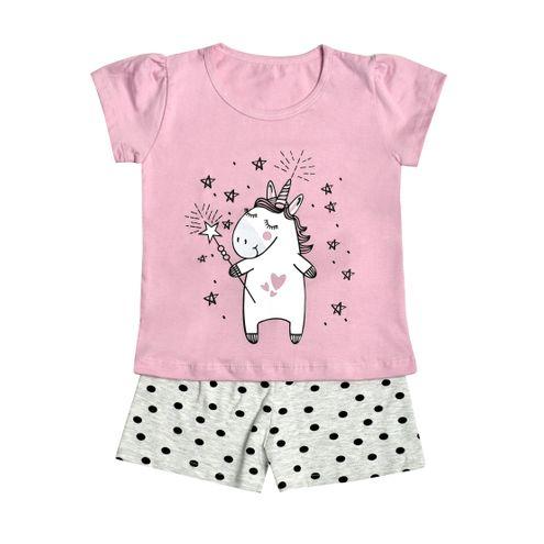 Pijama Manga Curta Unicórnia Julieta -Menina