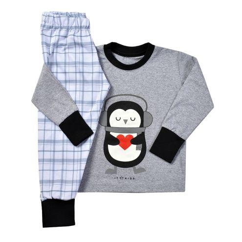 Pijama Manga Longa Pinguim Judite – Unissex
