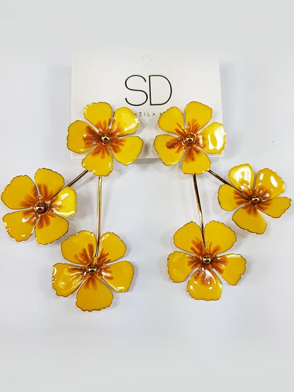 Brinco Flor Tropical - SD Acessórios