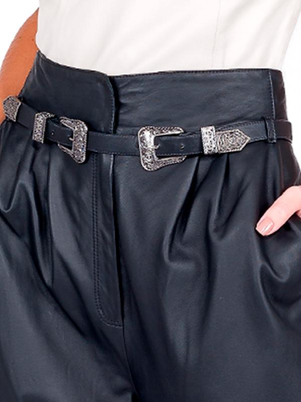 Calça Clochard Double Belt - Liziane Richter