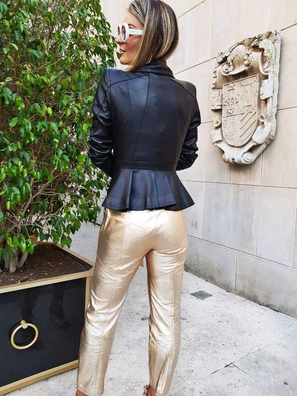 Calça Estilo Alfaiataria com Faixa para Amarração - Liziane Richter Couros