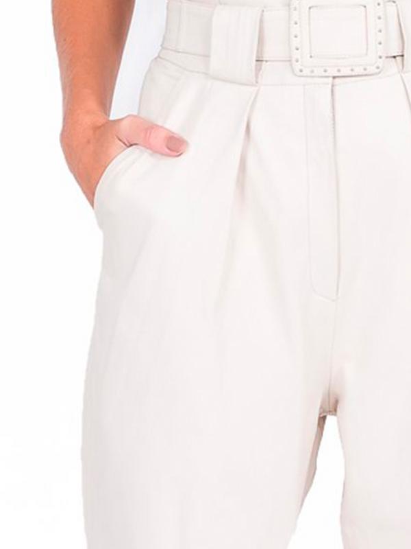 Calça Shape Solto com Detalhe de Pregas - Liziane Richter