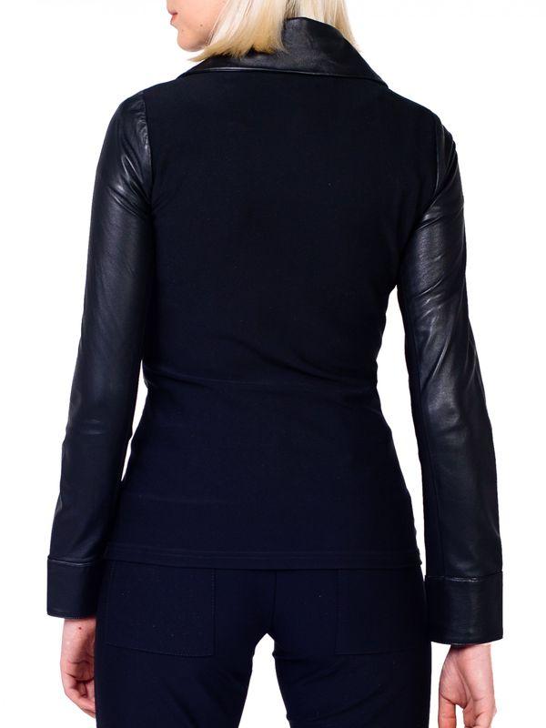Jaqueta Camisa Couro e Malha - Liziane Richter