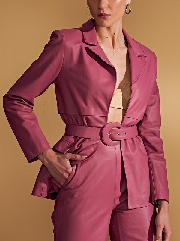 Casaco estilo blazer de alfaiataria - Liziane Richter Couros