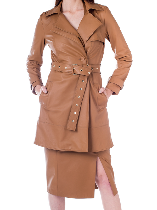Casaco Trench Coat - Liziane Richter Couros