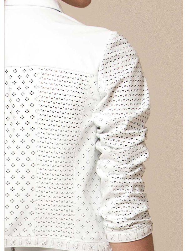 Casaqueto Curto em Laser Geométricos - Liziane Richter Couros