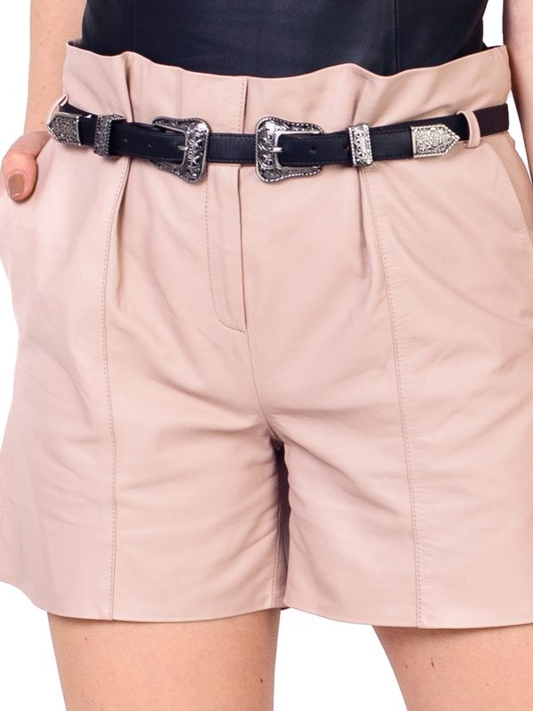 Short Clochard Cintura Alta Double Belt.
