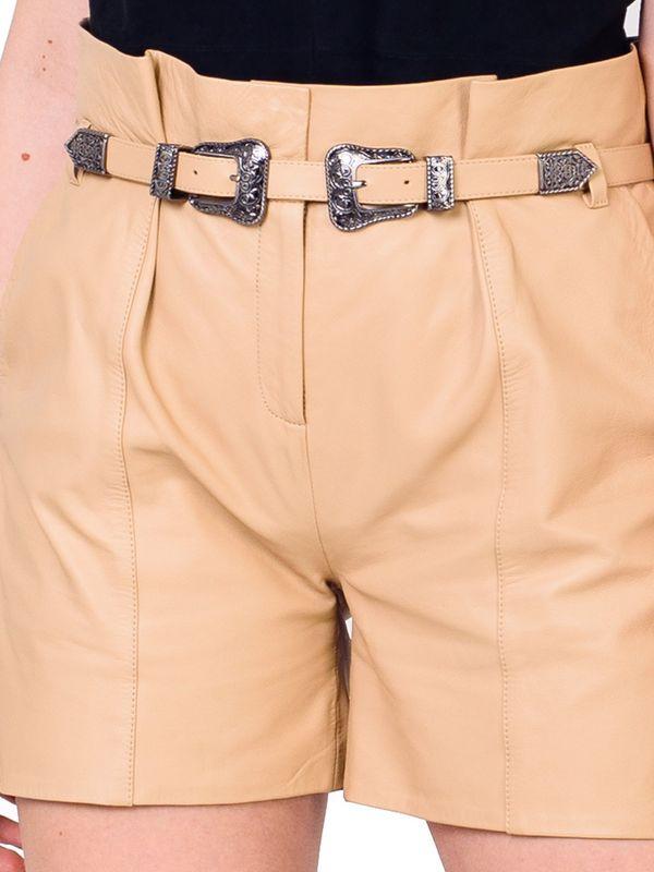 Short Clochard Cintura Alta Double Belt - Liziane Richter