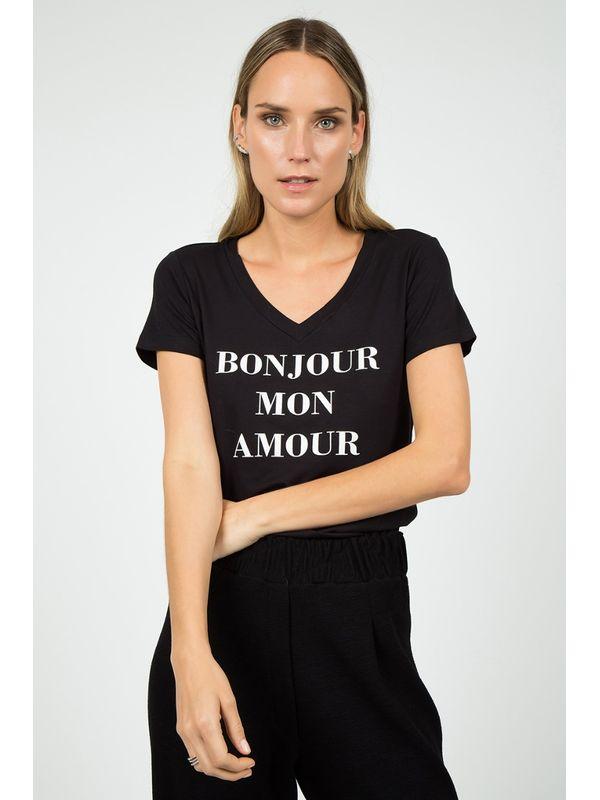 T-shirt Bonjour Mon - J CHERMANN