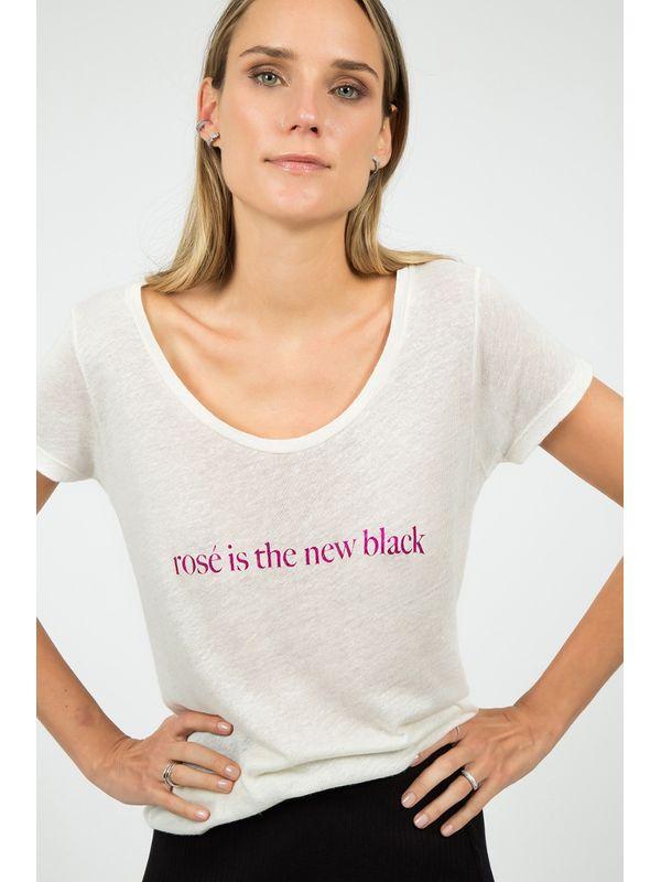 T-shirt Rosé Is The New Black - JCHERMANN