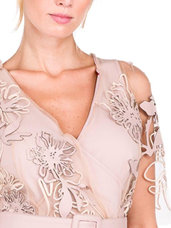 Vestido em Tule Estampado em Couro - Liziane Richter