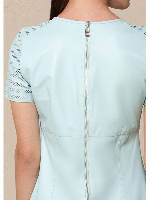 Vestido Estilo Camiseta com Laser nas Mangas - Liziane Richter Couros