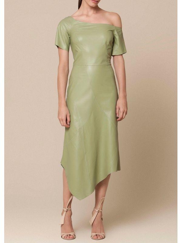 Vestido Midi com Recorte Assimétrico - Liziane Richter Couros