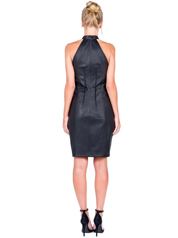 Vestido Gola Alta Frente Única - Liziane Richter