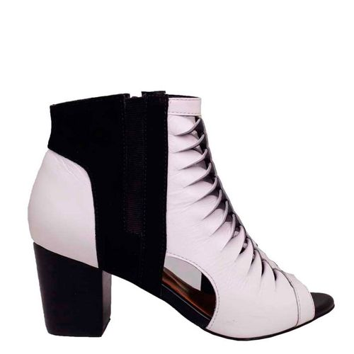 Ankle Boot Dina Mirtz Preto e Branco