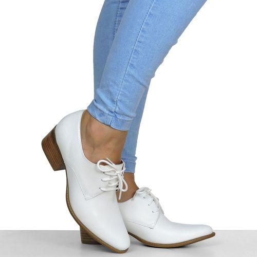 Sapato Branco Básico Dina Mirtz