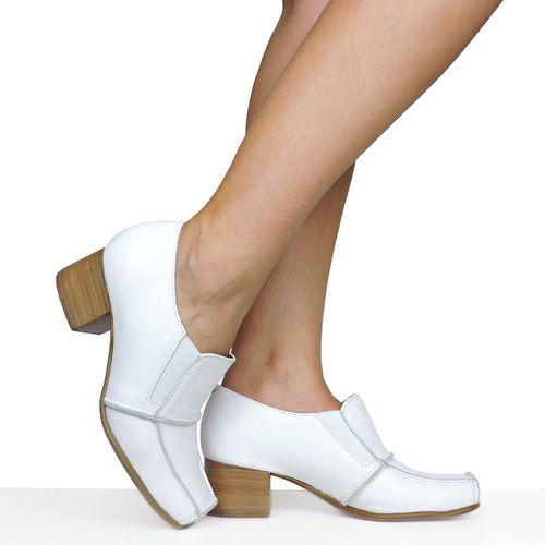Sapato Branco Costuras Dina Mirtz