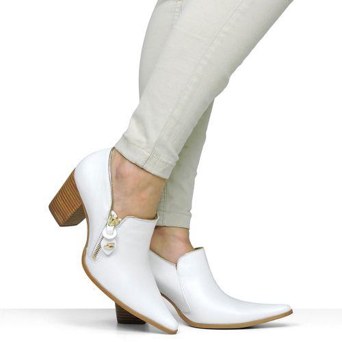 Sapato Branco Dina Mirtz Vira Ouro