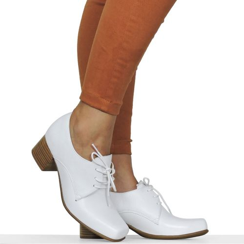 Sapato Branco Quadrado Dina Mirtz