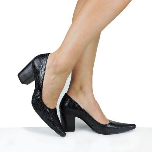 Sapato Dina Mirtz Bico Fino Salto Grosso