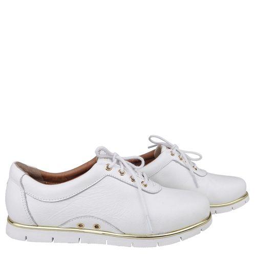 Tenis Branco Liso Cadarço Dina Mirtz