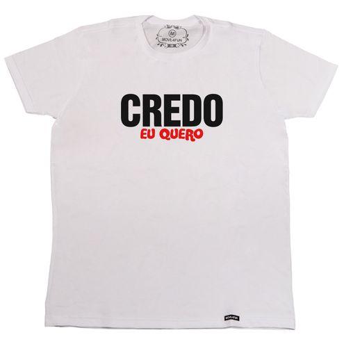 Camiseta Credo eu quero