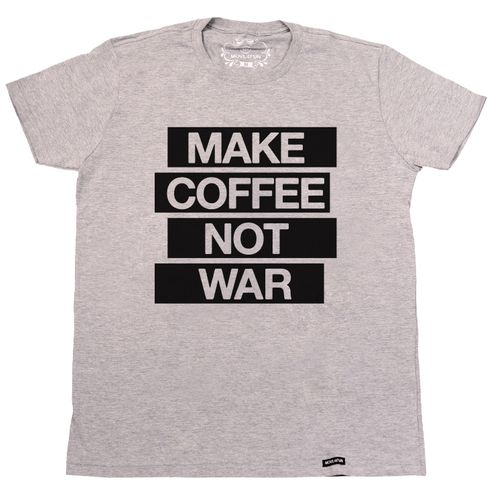 Camiseta Make coffee not war