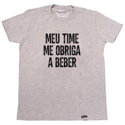 Camiseta Meu time me obriga a beber