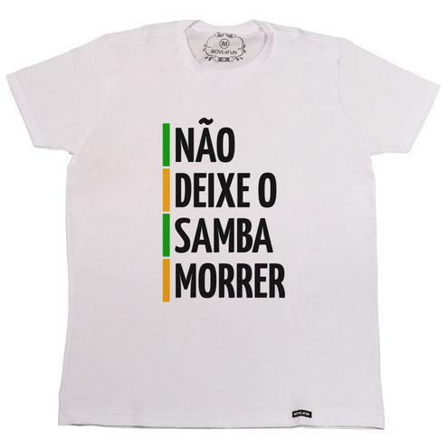 Camiseta Não deixe o samba morrer