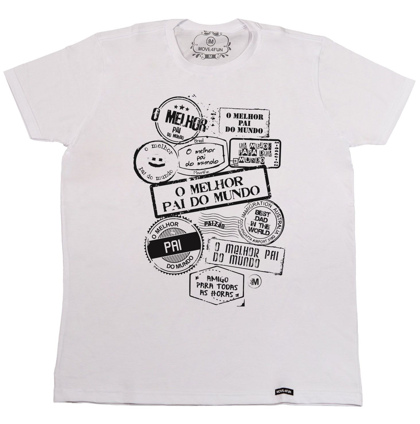 da0beaa5b07 Camiseta O melhor pai do mundo   Move4Fun