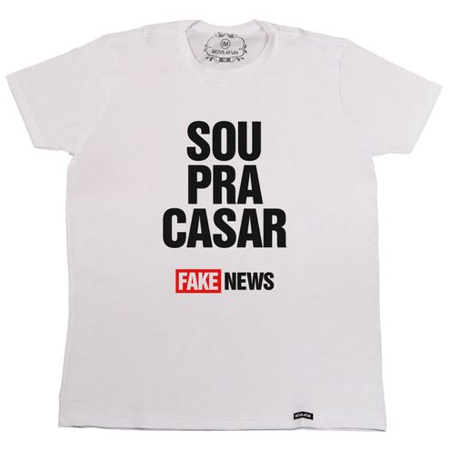 Camiseta Sou pra casar, fake news
