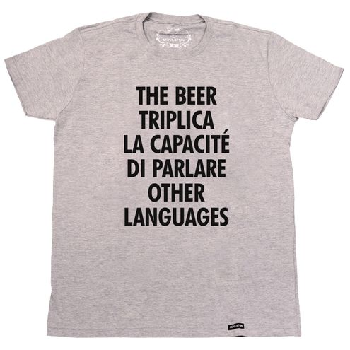 Camiseta The beer triplica la capacité di parlare other languages