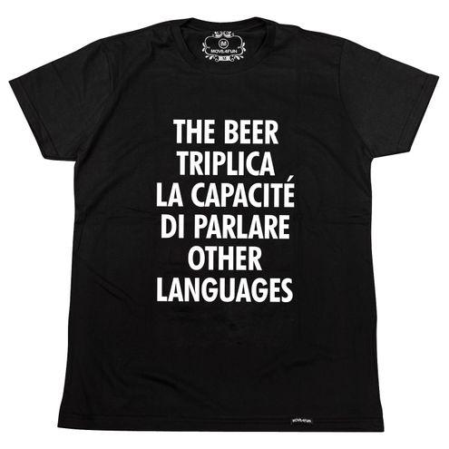 Camiseta The beer triplica la capacité di parlare other languages