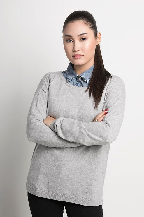 Suéter Feminino Algodão Peruano Amplo (Ms030)