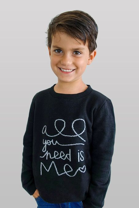 Suéter Infantil Frase (Ms051)