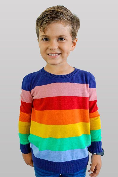 Suéter Infantil Rainbow (Ms050)