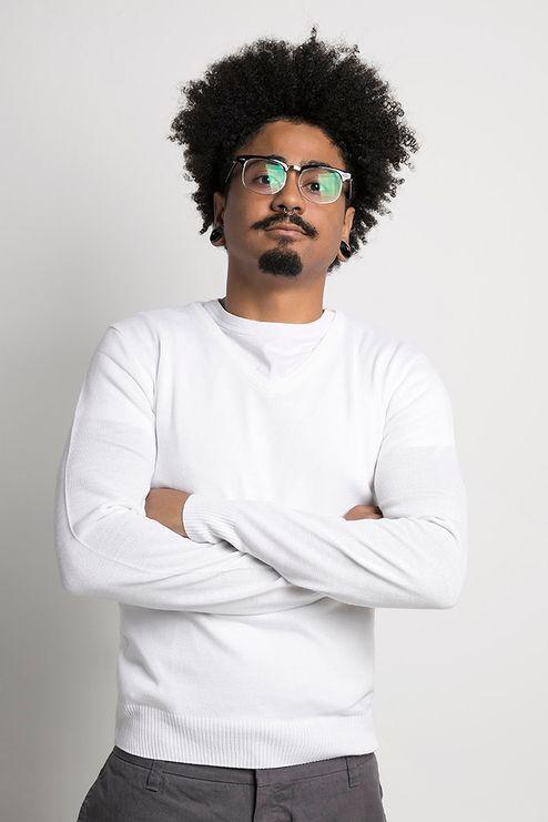 Suéter Masculino Acrílico Gola V (Ms025)
