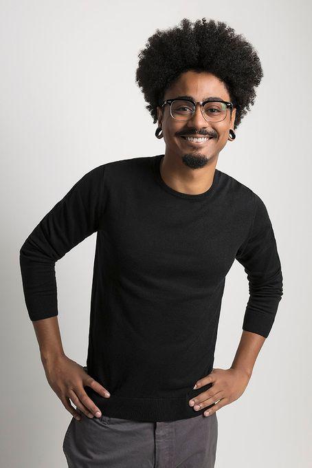 Suéter Masculino Algodão Peruano Gola Redonda (Ms001)