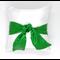 Almofada de Cetim Verde com laço para sublimação - 30cm x 30cm