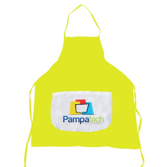 Avental Amarelo - Adulto - Bolso Branco
