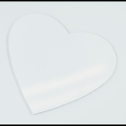Azulejo Cerâmica Coração Branco - 17 cm X 16 cm