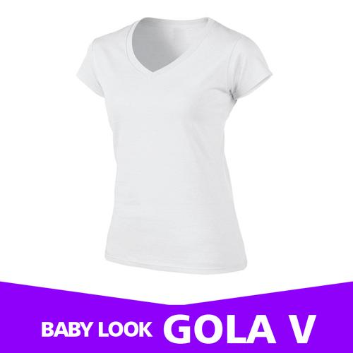 BABY LOOK BRANCA GOLA V