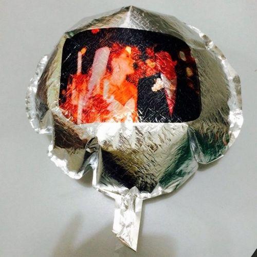 Balão Metalizado REDONDO para gás hélio